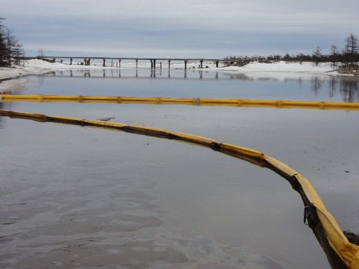 Нефтяной разлив произошел рядом с Дагинскими горячими источниками
