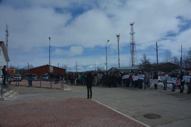 Митинг в пос. Вал против хранилища нефтянных отходов