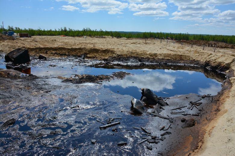 Нефтеотходы, пос. Вал