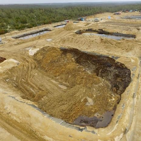 Могильник нефтяных отходов у пос. Вал