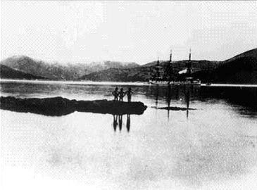 Британский корабль в порту Гамильтон