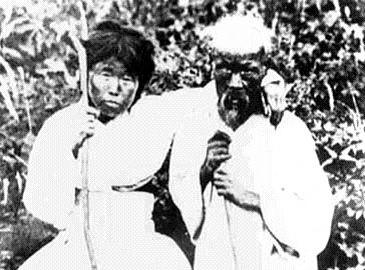 Корейская семья (первая фотография корейской женщины)
