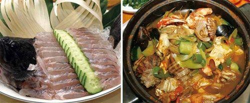 Блюда из свежепойманной рыбы, тушеное мясо и морепродукты дополняют прелести южного побережья (фото из еженельника «Конгам»)