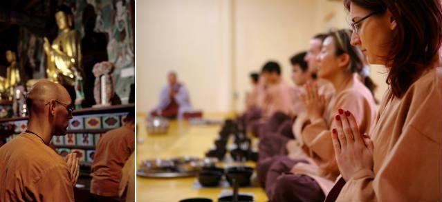 1) Храм Михванса в снегу. 2) Программы «темплстей» пригласят Вас в путешествие в мир спокойствия и поиска своей «истинной природы». (Фото: ⓒ Пак Чон-сон, ⓒ Отдел культуры корейского буддизма)